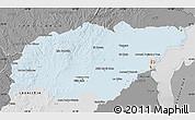 Political Shades Map of TREINTA Y TRES, desaturated