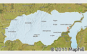 Political Shades Map of TREINTA Y TRES, satellite outside
