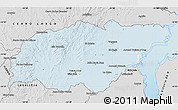 Silver Style Map of TREINTA Y TRES