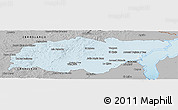 Gray Panoramic Map of TREINTA Y TRES