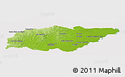 Physical Panoramic Map of TREINTA Y TRES, cropped outside
