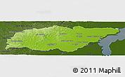 Physical Panoramic Map of TREINTA Y TRES, darken