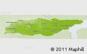 Physical Panoramic Map of TREINTA Y TRES, lighten