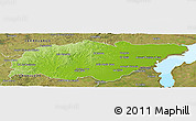 Physical Panoramic Map of TREINTA Y TRES, satellite outside