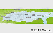 Political Shades Panoramic Map of TREINTA Y TRES, physical outside