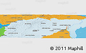 Political Shades Panoramic Map of TREINTA Y TRES