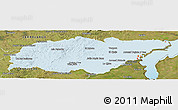 Political Shades Panoramic Map of TREINTA Y TRES, satellite outside