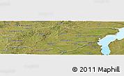 Satellite Panoramic Map of TREINTA Y TRES