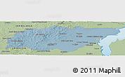 Savanna Style Panoramic Map of TREINTA Y TRES