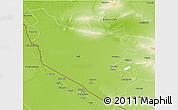 Physical 3D Map of Bukhara