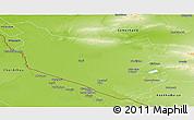 Physical Panoramic Map of Bukhara