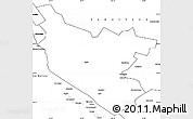 Blank Simple Map of Bukhara