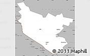Gray Simple Map of Bukhara
