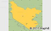 Savanna Style Simple Map of Bukhara