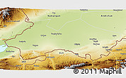 Physical 3D Map of Fergana