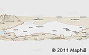 Classic Style Panoramic Map of Fergana