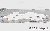 Gray Panoramic Map of Fergana
