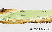 Physical Panoramic Map of Fergana