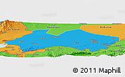 Political Panoramic Map of Fergana