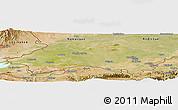 Satellite Panoramic Map of Fergana