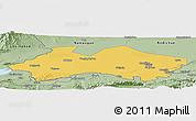 Savanna Style Panoramic Map of Fergana