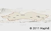 Shaded Relief Panoramic Map of Fergana, lighten