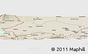 Shaded Relief Panoramic Map of Fergana