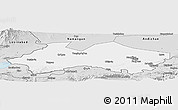 Silver Style Panoramic Map of Fergana