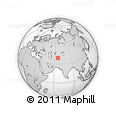 Outline Map of Kashkadarya