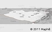 Gray Panoramic Map of Kashkadarya