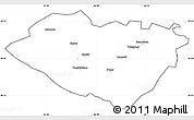 Blank Simple Map of Kashkadarya, cropped outside