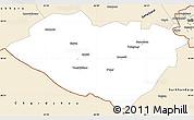 Classic Style Simple Map of Kashkadarya