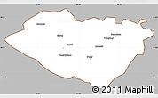 Gray Simple Map of Kashkadarya, cropped outside
