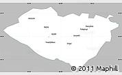 Gray Simple Map of Kashkadarya, single color outside