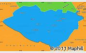 Political Simple Map of Kashkadarya