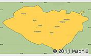 Savanna Style Simple Map of Kashkadarya, cropped outside