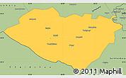 Savanna Style Simple Map of Kashkadarya