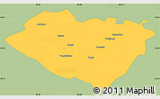 Savanna Style Simple Map of Kashkadarya, single color outside