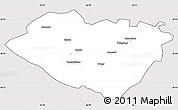 Silver Style Simple Map of Kashkadarya, cropped outside