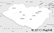 Silver Style Simple Map of Kashkadarya