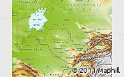 Physical Map of Uzbekistan