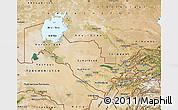 Satellite Map of Uzbekistan