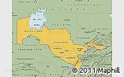 Savanna Style Map of Uzbekistan
