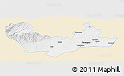 Classic Style Panoramic Map of Namangan, single color outside