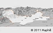 Gray Panoramic Map of Namangan