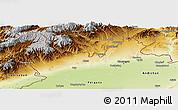 Physical Panoramic Map of Namangan