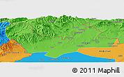 Political Panoramic Map of Namangan