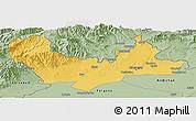 Savanna Style Panoramic Map of Namangan