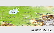 Physical Panoramic Map of Uzbekistan
