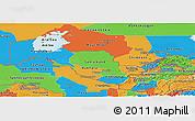 Political Panoramic Map of Uzbekistan